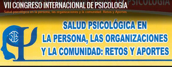 VII Congreso Internacional de Psicología en Perú