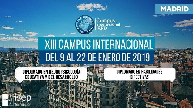 Nueva convocatoria de Diplomados en Madrid para enero de 2019